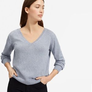 Everlane the soft cotton v neck sweater
